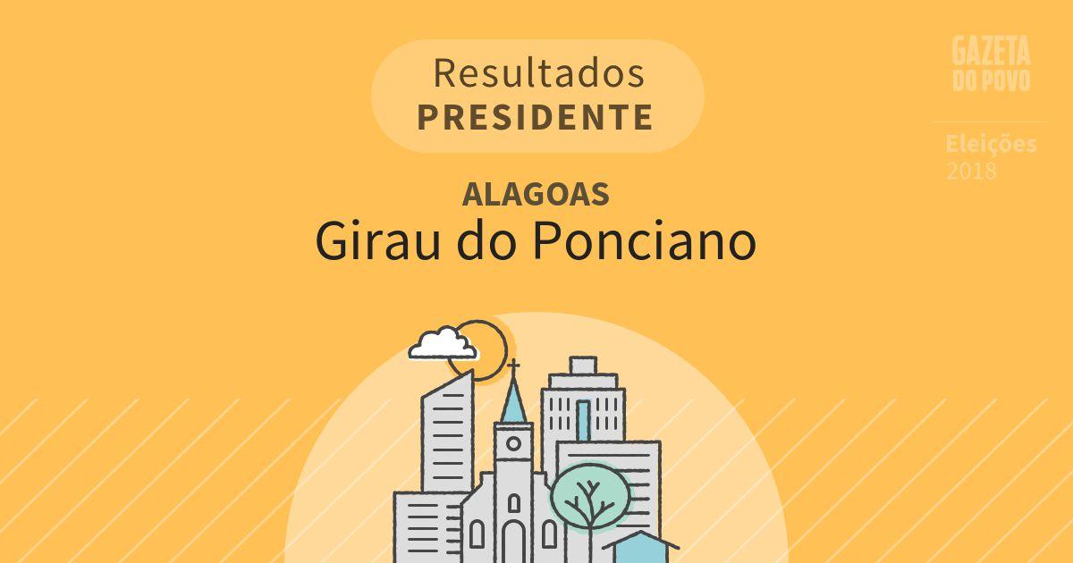 Resultados para Presidente em Alagoas em Girau do Ponciano (AL)