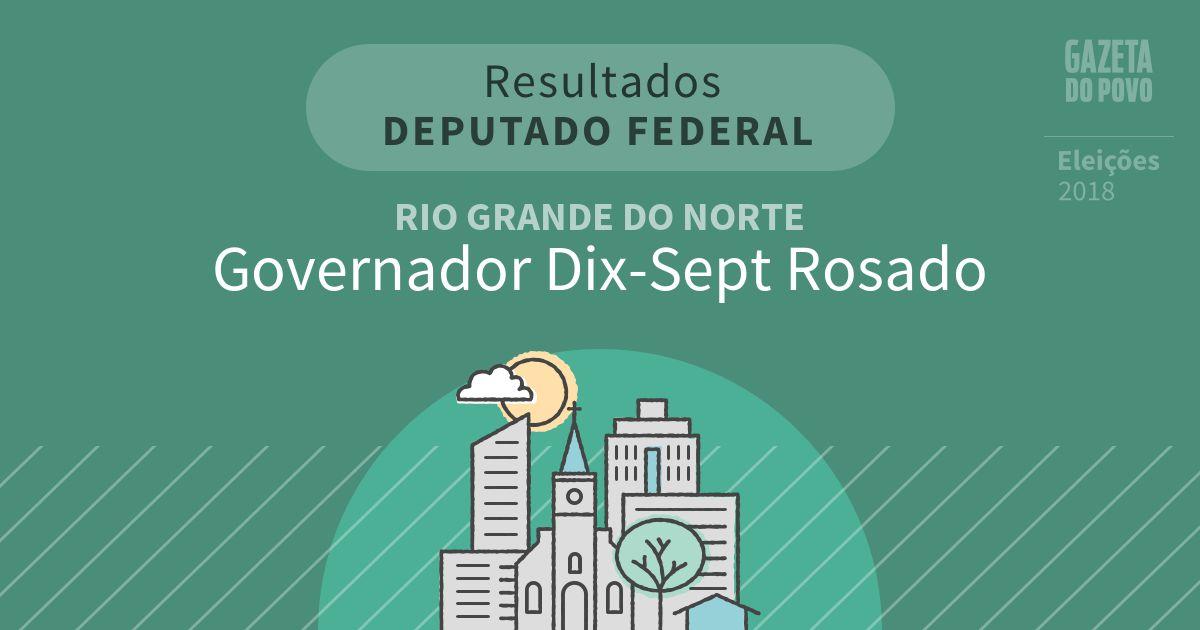 Resultados para Deputado Federal no Rio Grande do Norte em Governador Dix-Sept Rosado (RN)