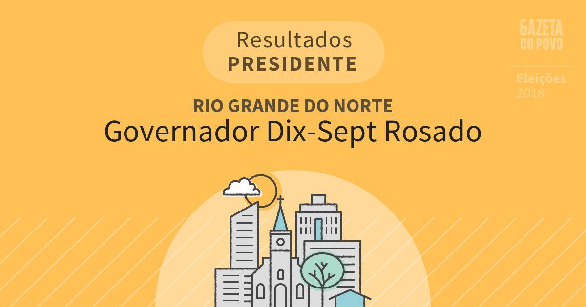 Resultados para Presidente no Rio Grande do Norte em Governador Dix-Sept Rosado (RN)