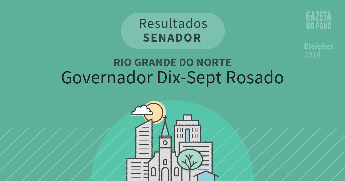 Resultados para Senador no Rio Grande do Norte em Governador Dix-Sept Rosado (RN)