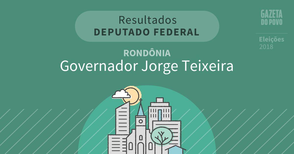 Resultados para Deputado Federal em Rondônia em Governador Jorge Teixeira (RO)