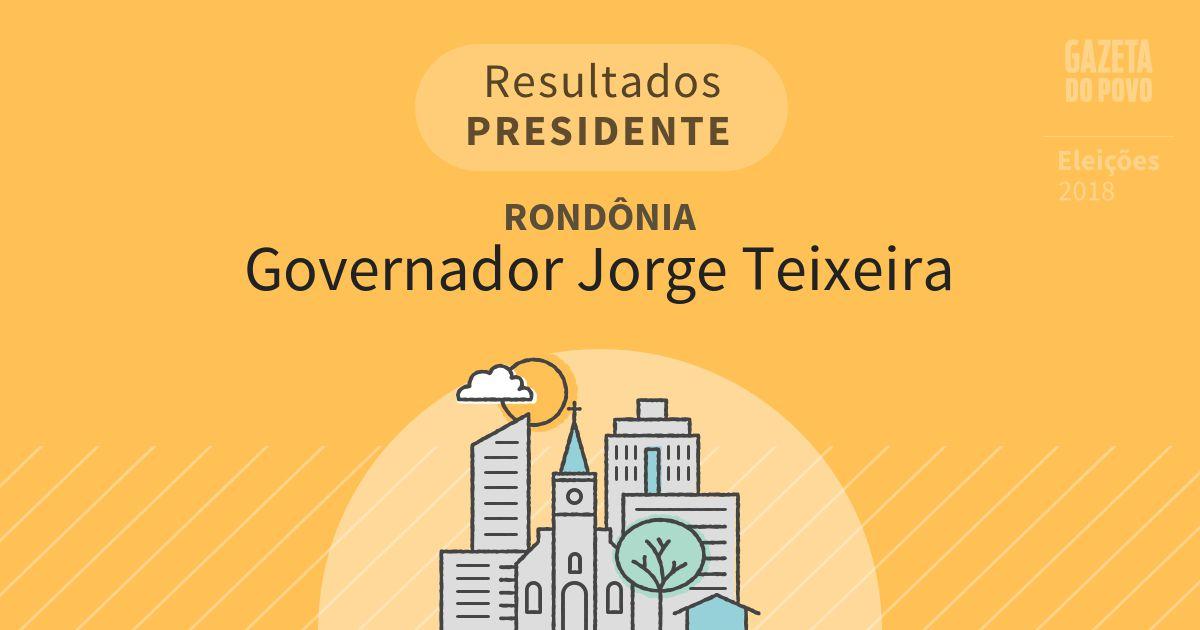 Resultados para Presidente em Rondônia em Governador Jorge Teixeira (RO)