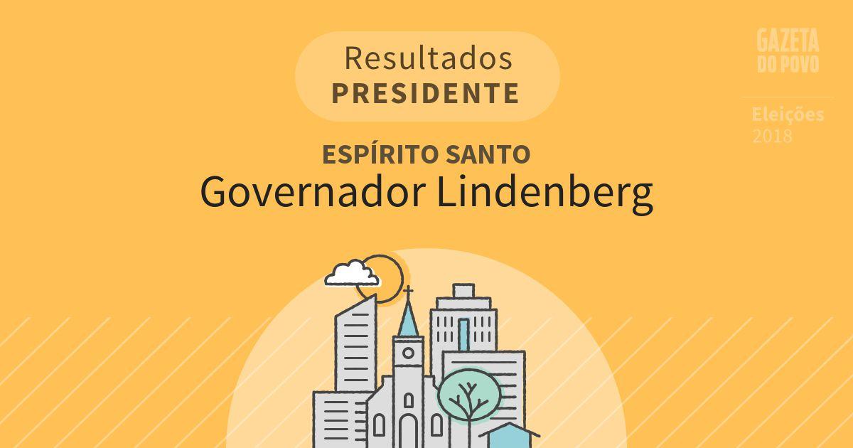 Resultados para Presidente no Espírito Santo em Governador Lindenberg (ES)