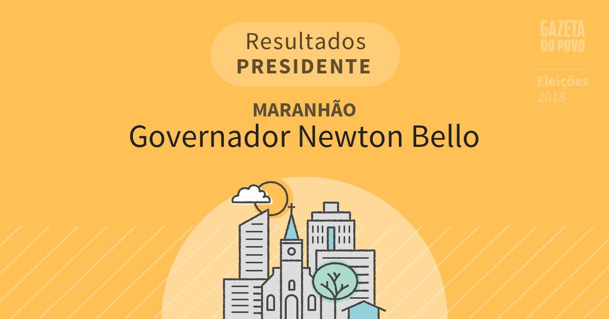 Resultados para Presidente no Maranhão em Governador Newton Bello (MA)