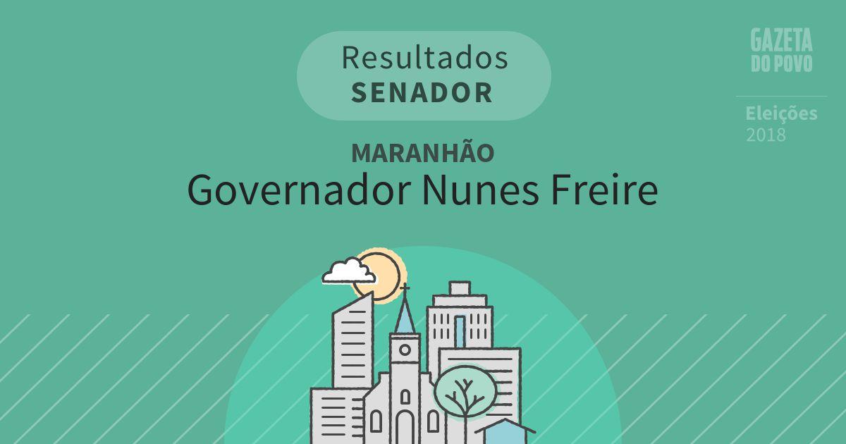 Resultados para Senador no Maranhão em Governador Nunes Freire (MA)