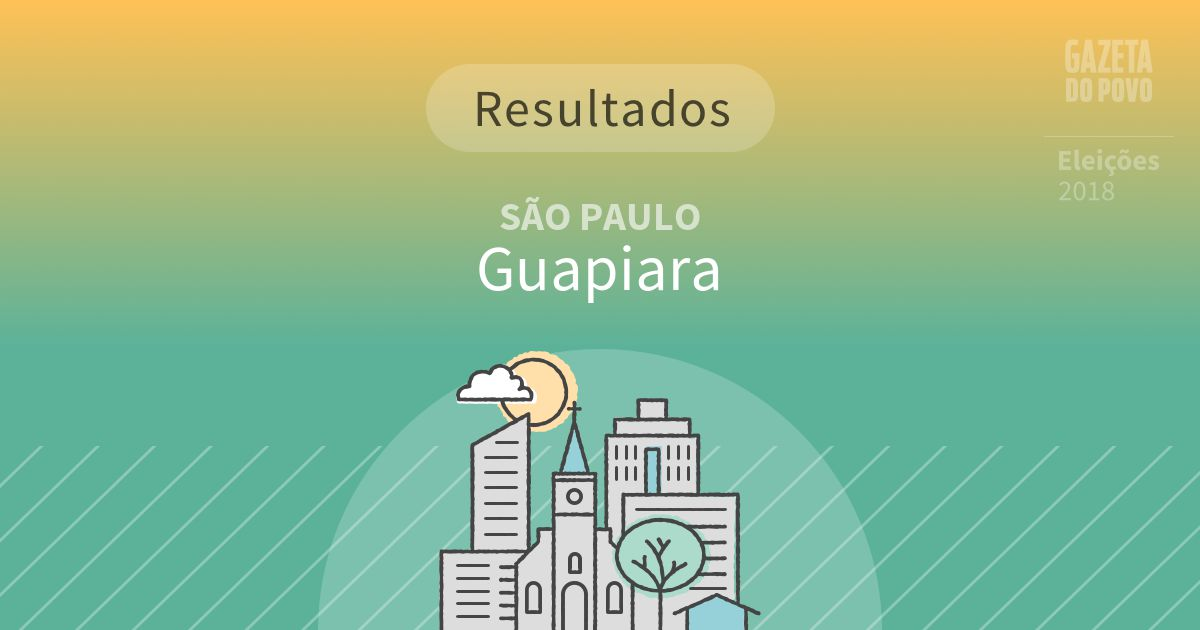 Resultados da votação em Guapiara (SP)