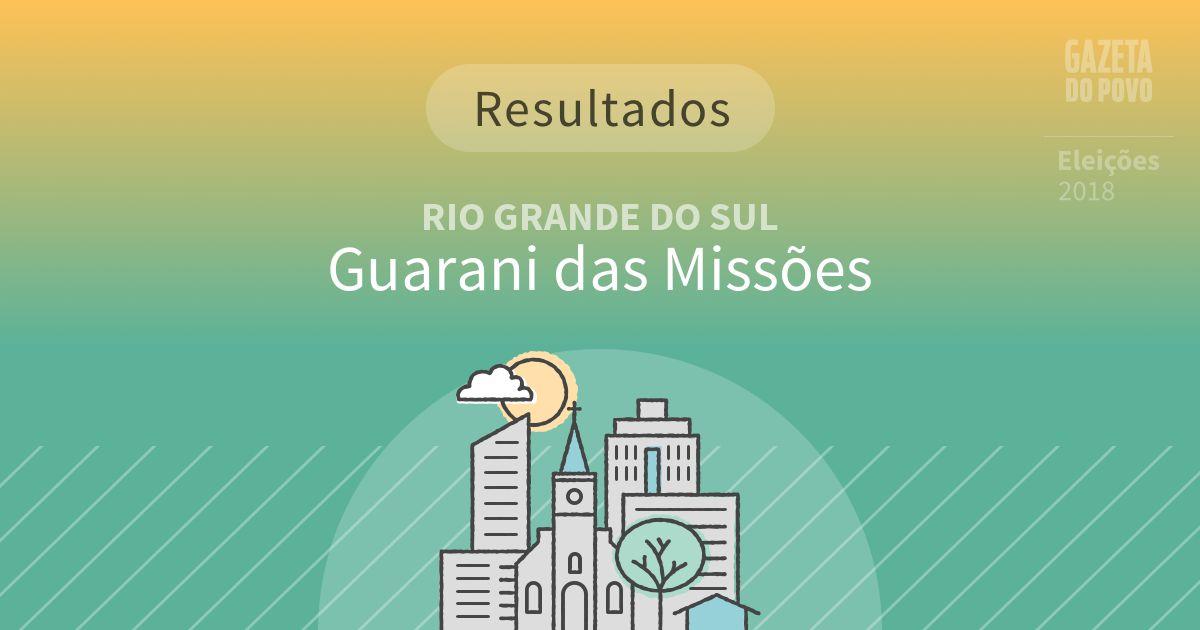 d3f4b8c3f31c Resultados da votação em Guarani das Missões (RS)   Eleições 2018