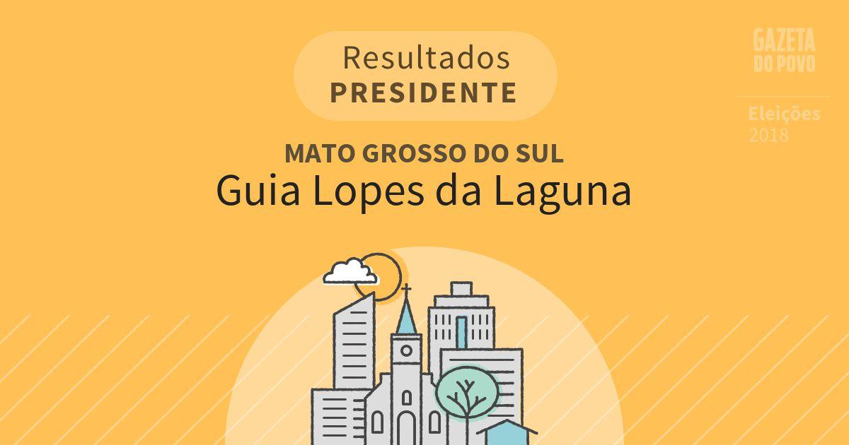 Resultados para Presidente no Mato Grosso do Sul em Guia Lopes da Laguna (MS)