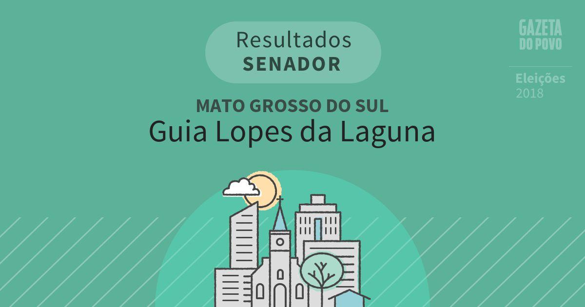 Resultados para Senador no Mato Grosso do Sul em Guia Lopes da Laguna (MS)