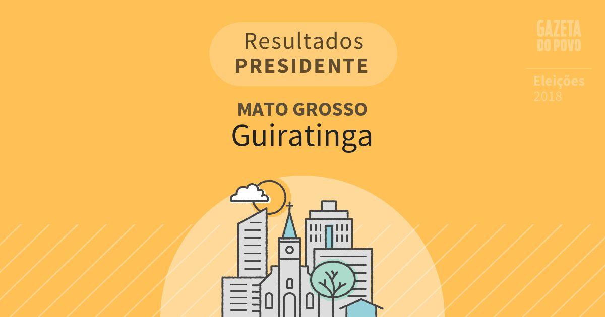 Resultados para Presidente no Mato Grosso em Guiratinga (MT)