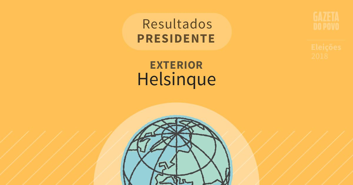 Resultados para Presidente no Exterior em Helsinque (Exterior)