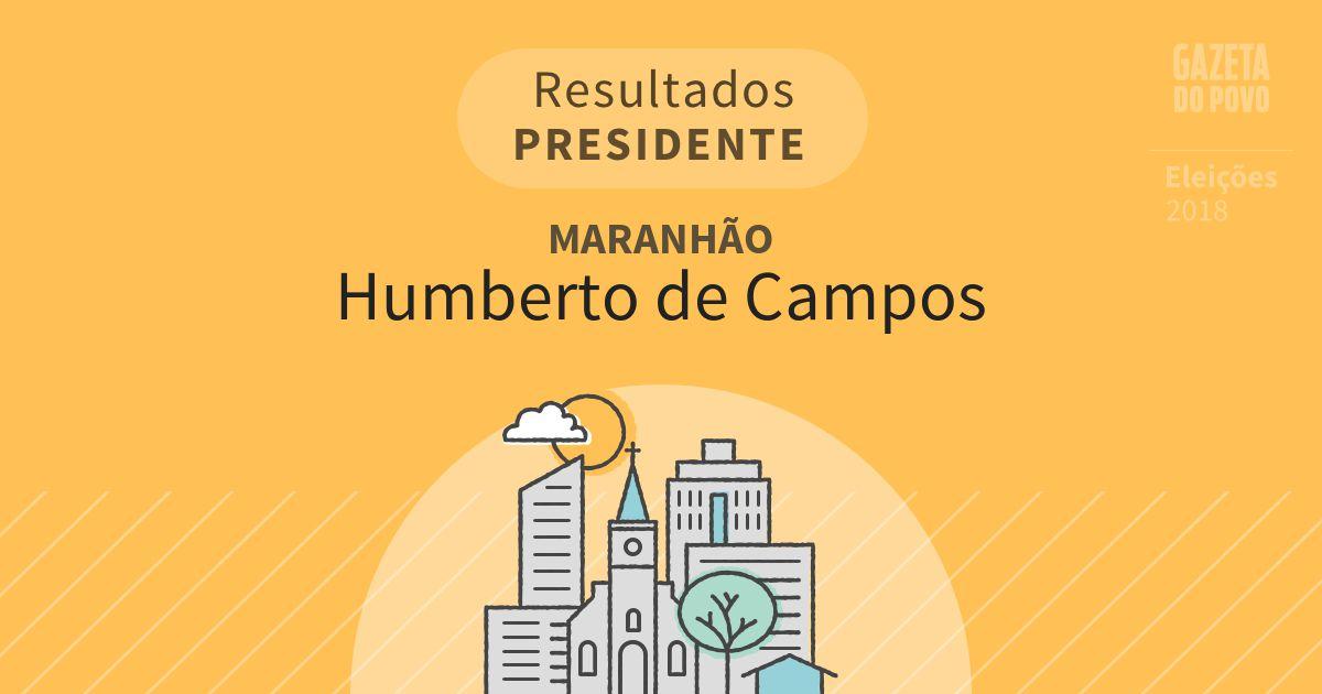 Resultados para Presidente no Maranhão em Humberto de Campos (MA)