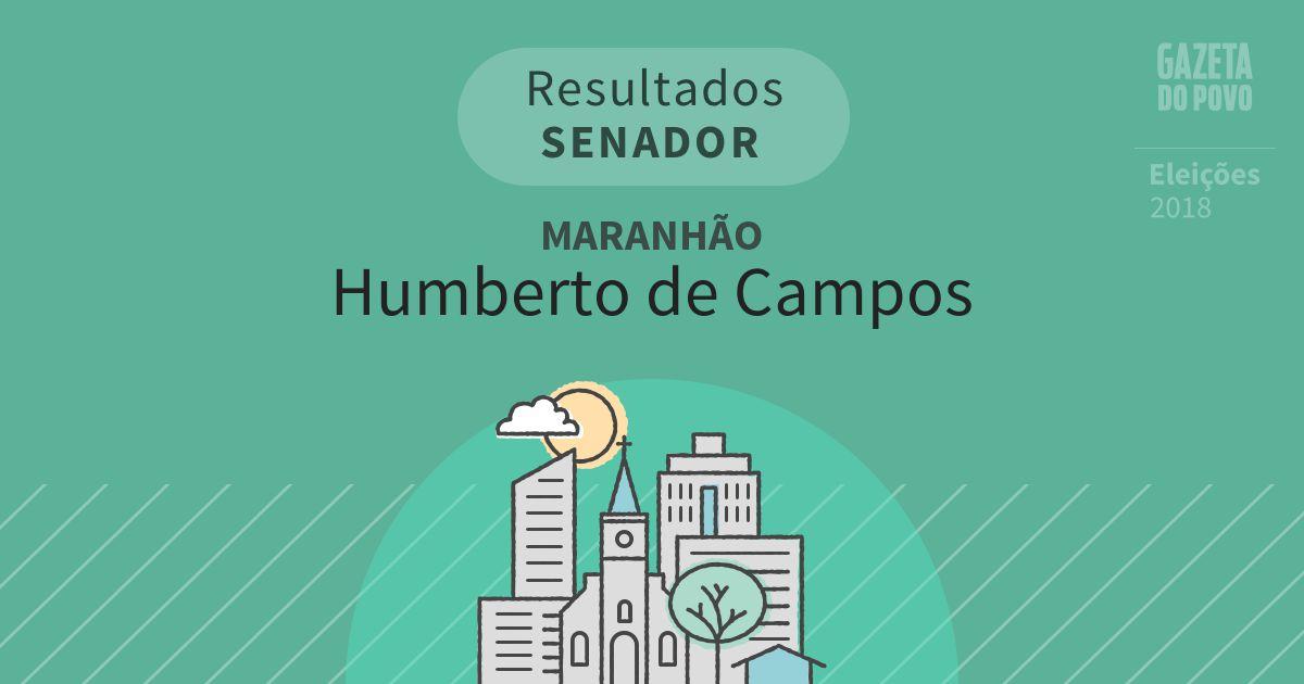 Resultados para Senador no Maranhão em Humberto de Campos (MA)