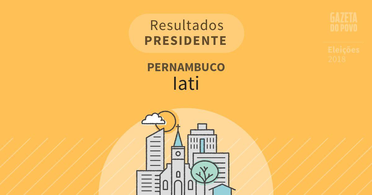 Resultados para Presidente em Pernambuco em Iati (PE)