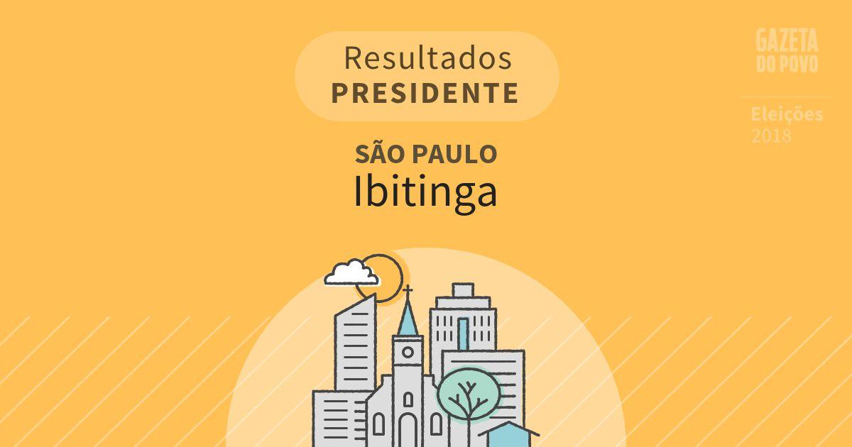 Resultados para Presidente em São Paulo em Ibitinga (SP)