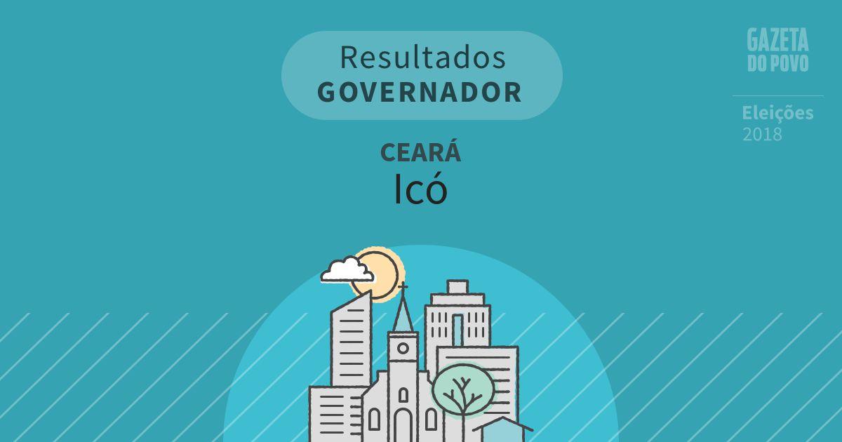 Resultados para Governador no Ceará em Icó (CE)