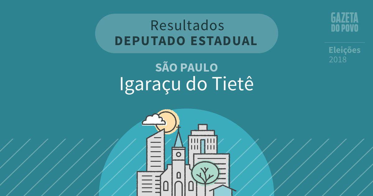Resultados para Deputado Estadual em São Paulo em Igaraçu do Tietê (SP)