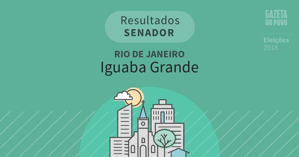 Resultados para Senador no Rio de Janeiro em Iguaba Grande (RJ)