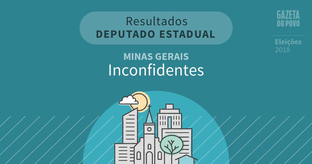 Resultados para Deputado Estadual em Minas Gerais em Inconfidentes (MG)