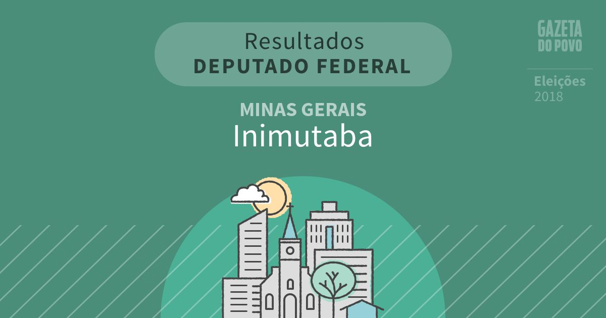 Resultados para Deputado Federal em Minas Gerais em Inimutaba (MG)
