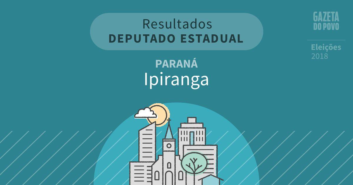 Resultados para Deputado Estadual no Paraná em Ipiranga (PR)