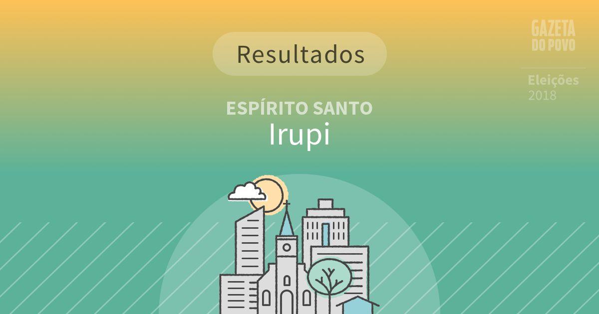 Resultados da votação em Irupi (ES)