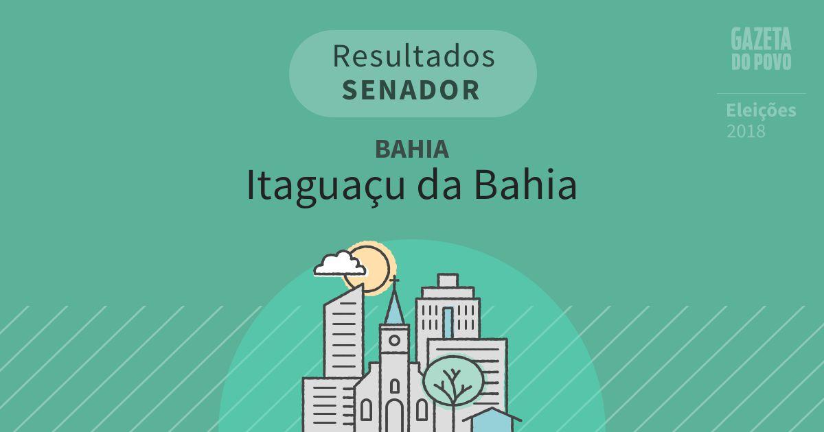 Resultados para Senador na Bahia em Itaguaçu da Bahia (BA)