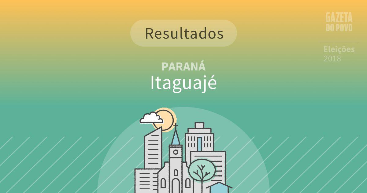 Resultados da votação em Itaguajé (PR)