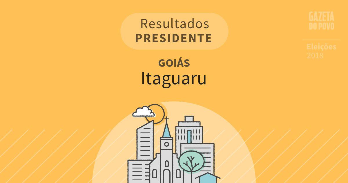 Resultados para Presidente em Goiás em Itaguaru (GO)