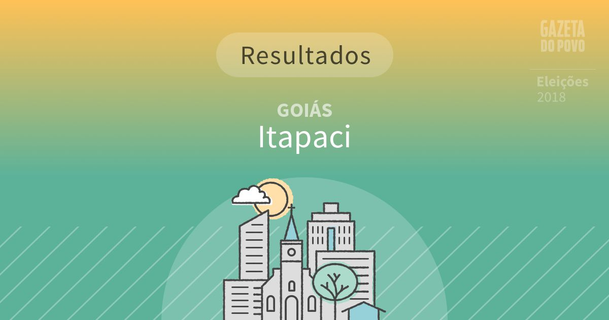 Resultados da votação em Itapaci (GO)