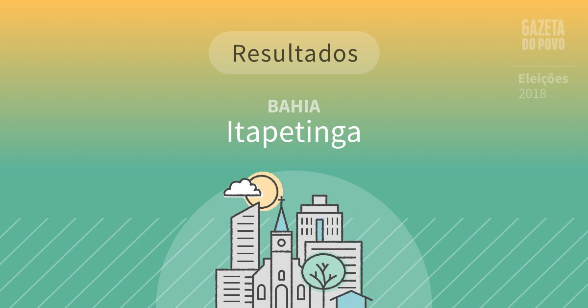 Resultados da votação em Itapetinga (BA)
