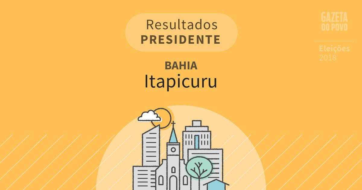 Resultados para Presidente na Bahia em Itapicuru (BA)