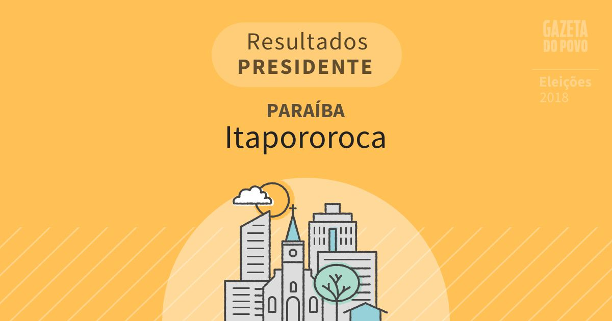 Resultados para Presidente na Paraíba em Itapororoca (PB)