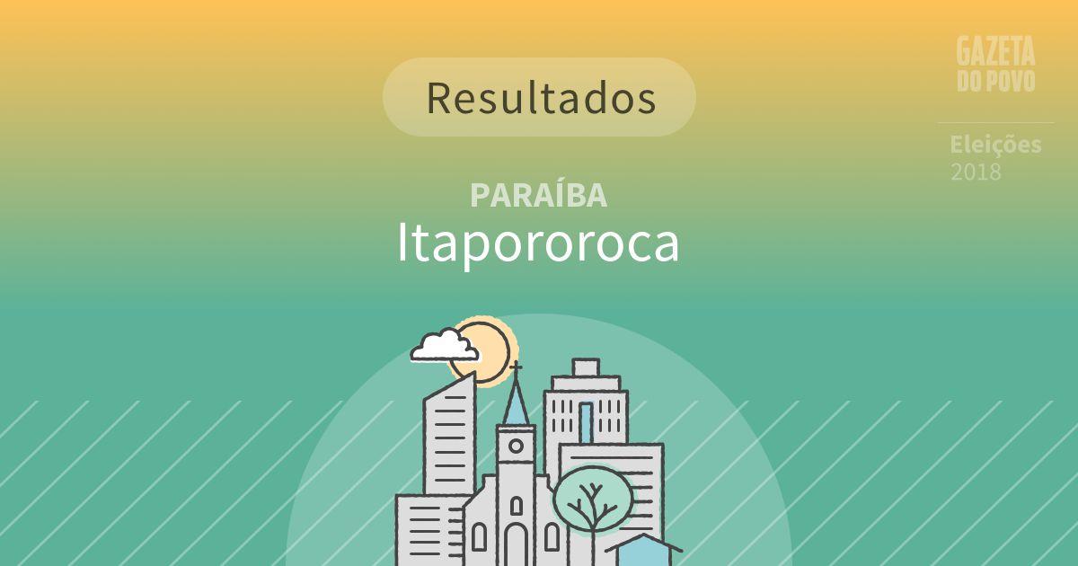 Resultados da votação em Itapororoca (PB)