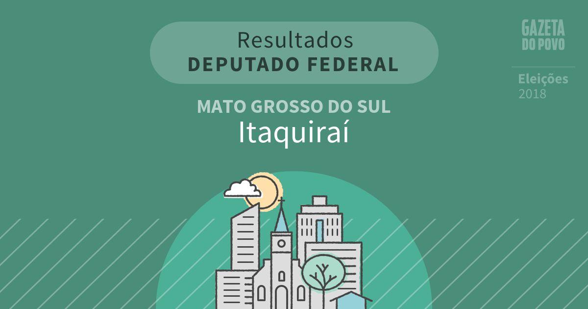 Resultados para Deputado Federal no Mato Grosso do Sul em Itaquiraí (MS)