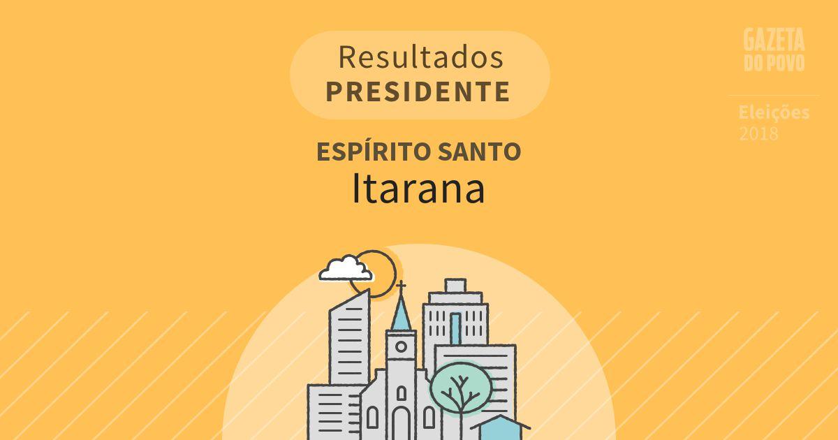 Resultados para Presidente no Espírito Santo em Itarana (ES)