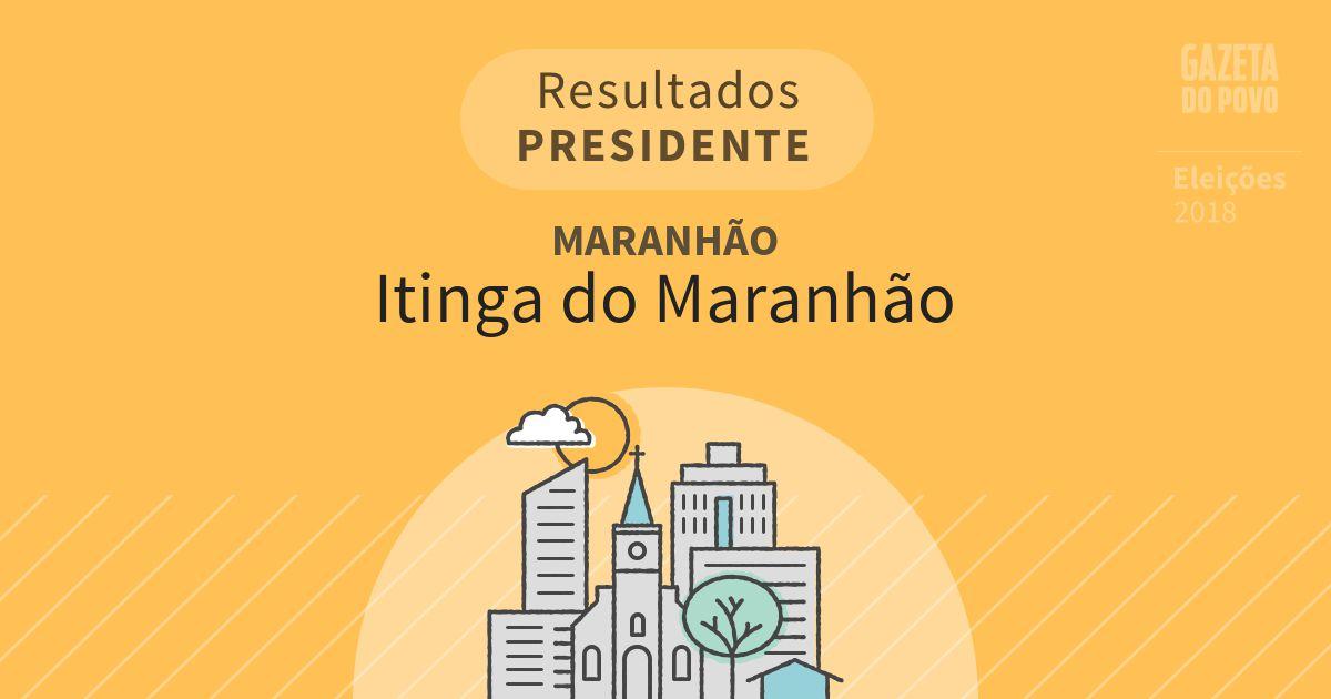 Resultados para Presidente no Maranhão em Itinga do Maranhão (MA)