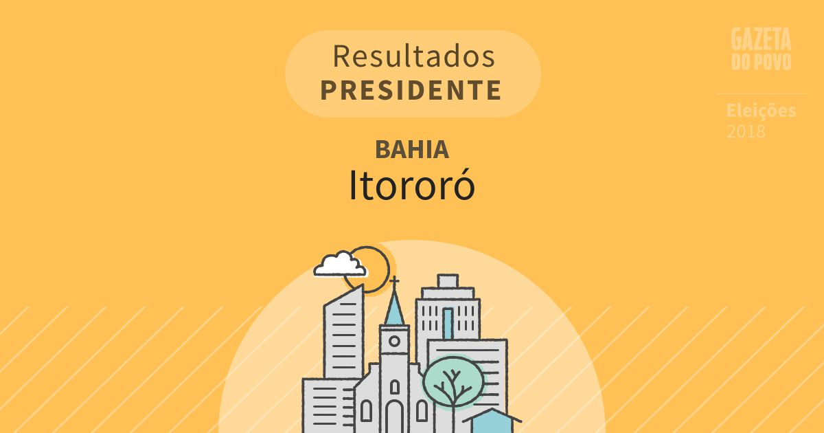 Resultados para Presidente na Bahia em Itororó (BA)