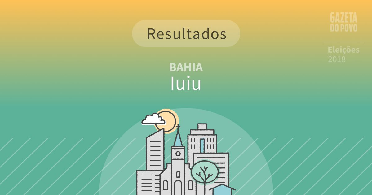 Resultados da votação em Iuiu (BA)