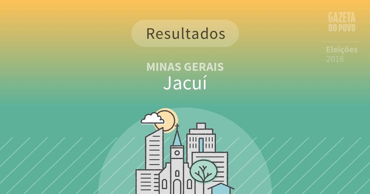 Resultados da votação em Jacuí (MG)