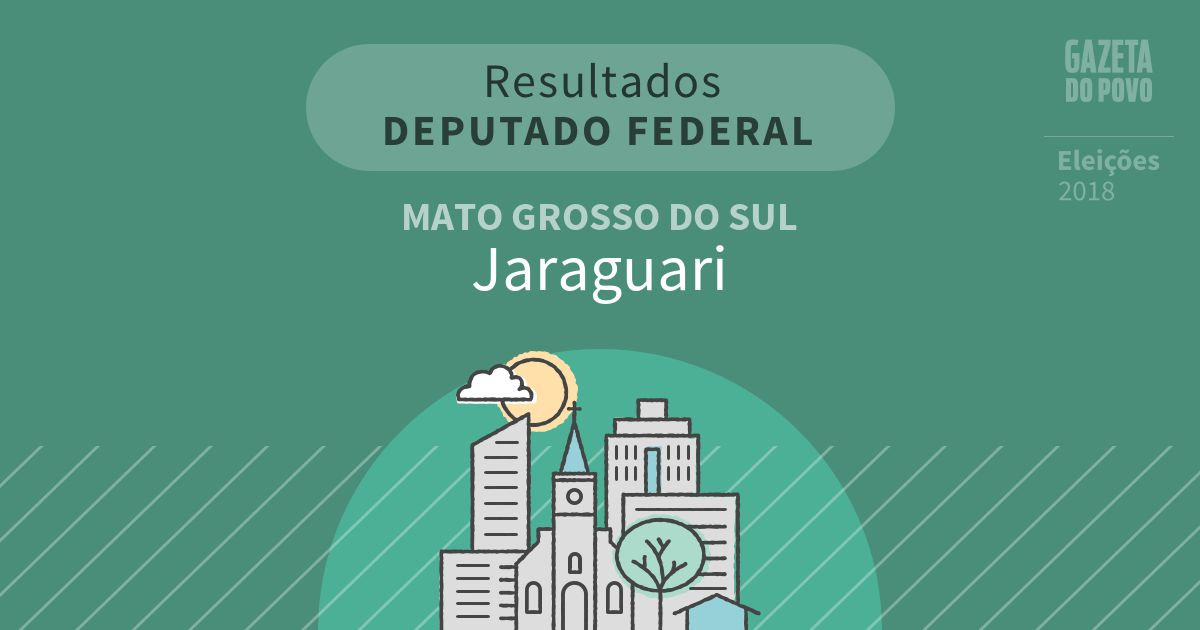 Resultados para Deputado Federal no Mato Grosso do Sul em Jaraguari (MS)