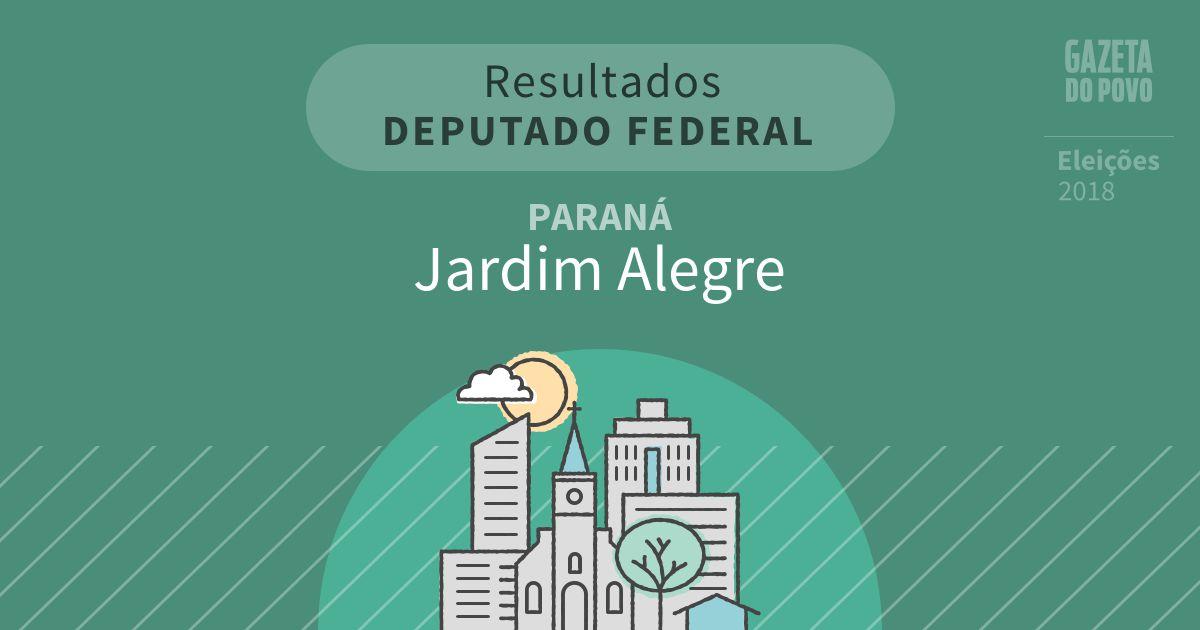 Resultados para Deputado Federal no Paraná em Jardim Alegre (PR)