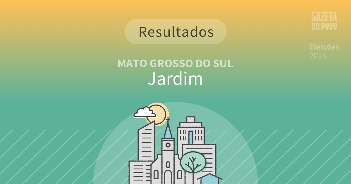 Resultados da votação em Jardim (MS)