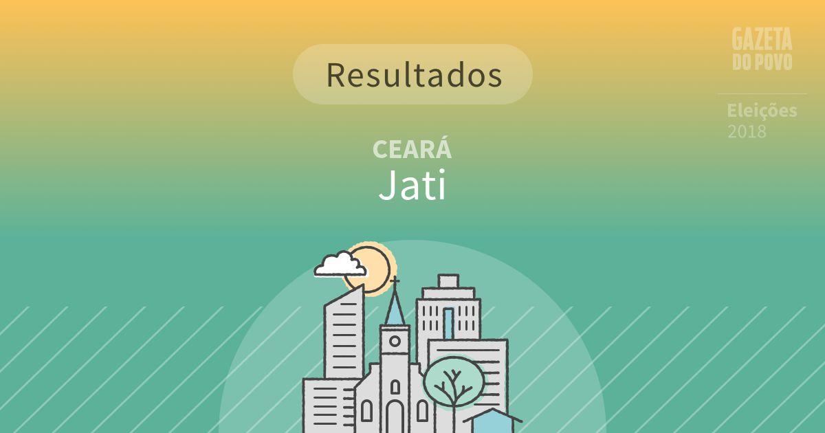 Resultados da votação em Jati (CE)
