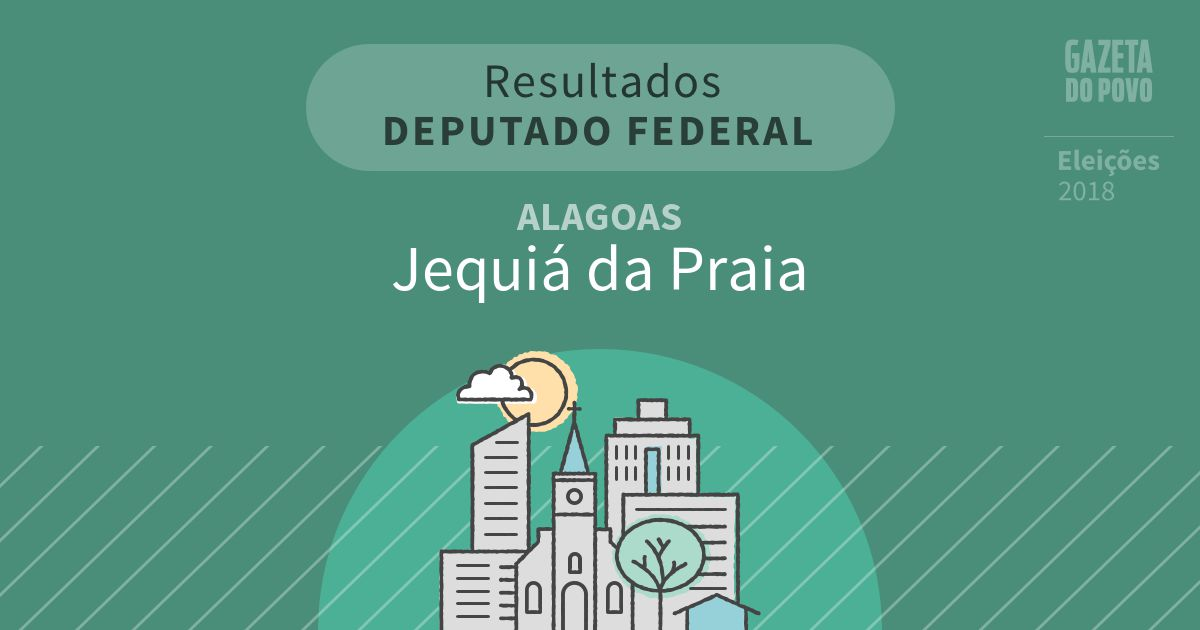 Resultados para Deputado Federal em Alagoas em Jequiá da Praia (AL)