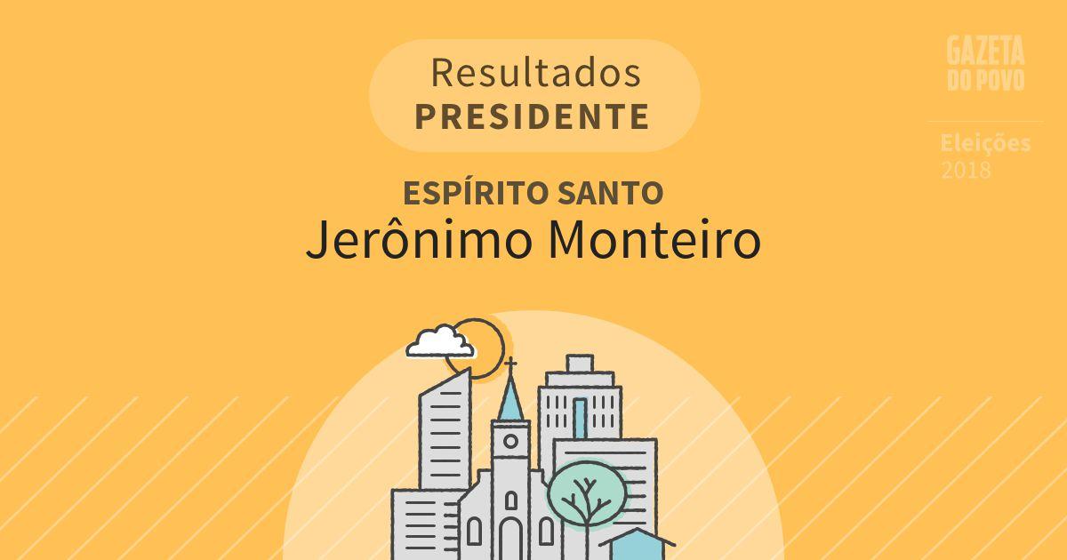 Resultados para Presidente no Espírito Santo em Jerônimo Monteiro (ES)