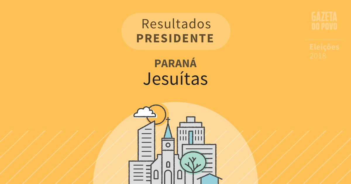 Resultados para Presidente no Paraná em Jesuítas (PR)