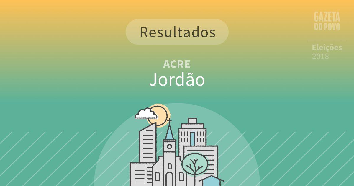 Resultados da votação em Jordão (AC)
