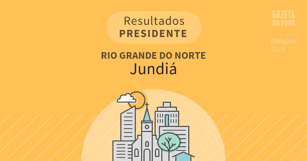 Resultados para Presidente no Rio Grande do Norte em Jundiá (RN)