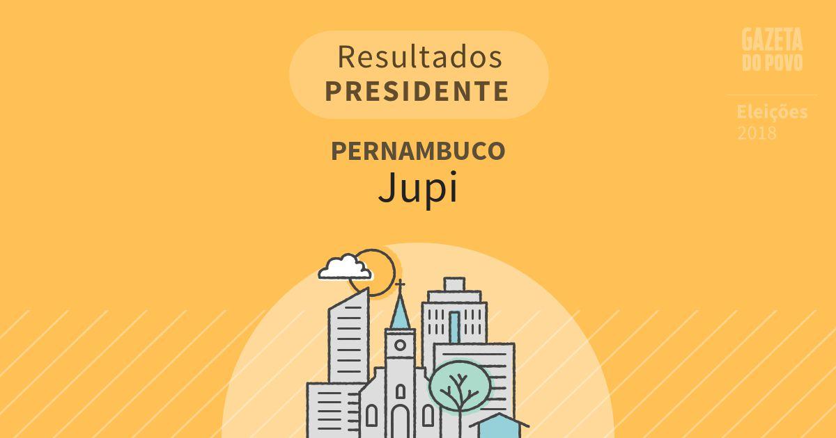 Resultados para Presidente em Pernambuco em Jupi (PE)